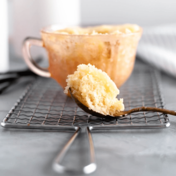 When that sweet tooth strikes, all you need is a few basic pantry ingredients and 5 minutes to have this delicious Vanilla Mug Cake in your life.
