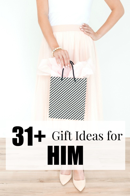 31+ Gift Ideas for Him: gifts he'll actually love! For husband, dad, brother, or boyfriend! #giftsforhim #gifts