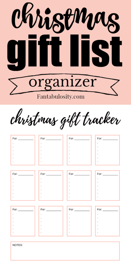 Christmas Gift List Printable - Great for bullet journaling and organization #christmas #giftlist #checklist #organizer