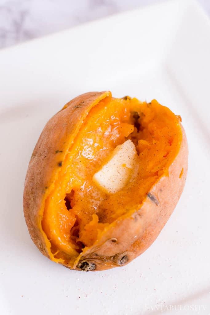 Sweet Potato with Cinnamon and Sugar