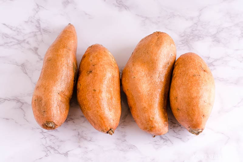 4 raw sweet potatoes to cook - how to cook in a pressure cooker