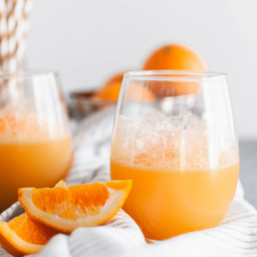 This 3 ingredient Orange Sherbet Punch is perfect for all your upcoming holiday parties. Whip up a batch and watch it disappear. All you need is orange sherbet, lemon lime soda and orange juice.