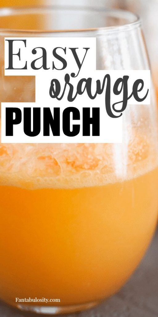 This easy orange punch recipe only has 3 ingredients and makes the a great punch for parties! #easy #punchrecipe #orange #sherbet #punch