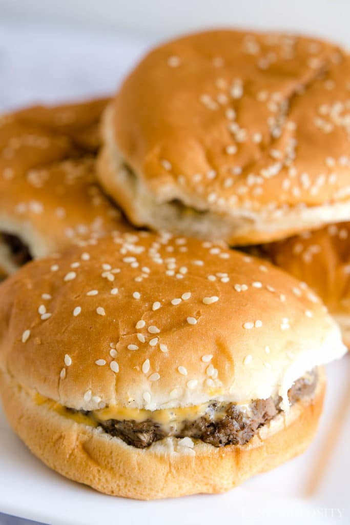 hamburgers in the oven