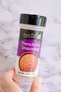 French Fry Seasoning - a great spice for burgers