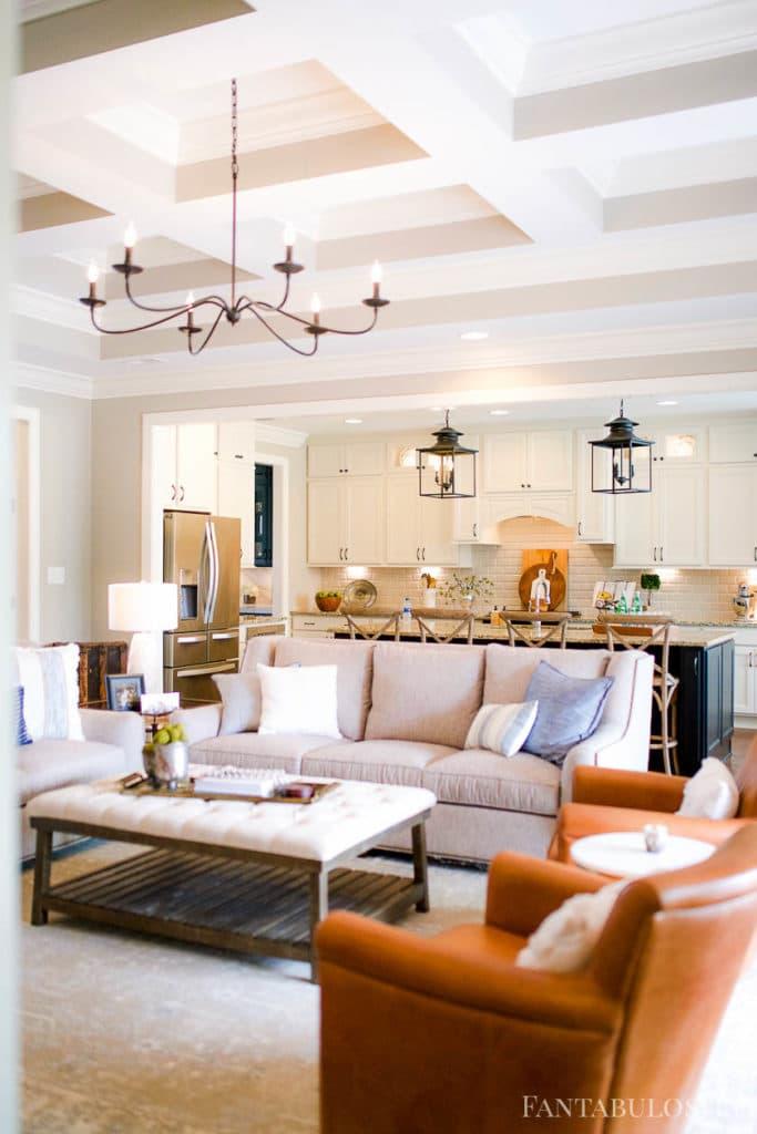 Open kitchen and living room floor plan - so cozy