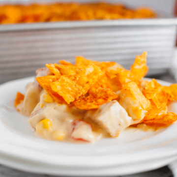 Get ready for an ultra easy dinner recipe in this Doritos Chicken Casserole. It's packed full of simple ingredients and delicious flavors.