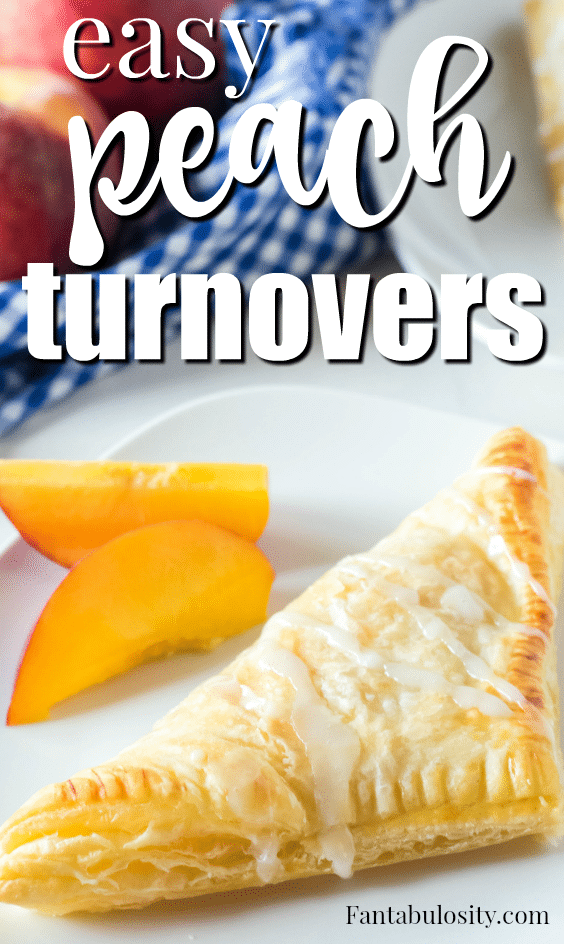 Easy peach turnovers using puff pastry