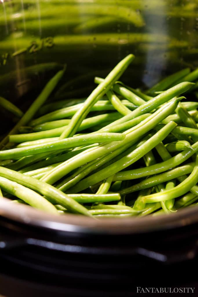 Green beans in instant pot with broth