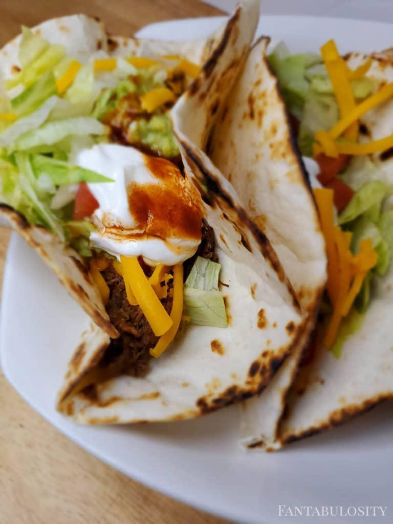 Roast used to make tacos