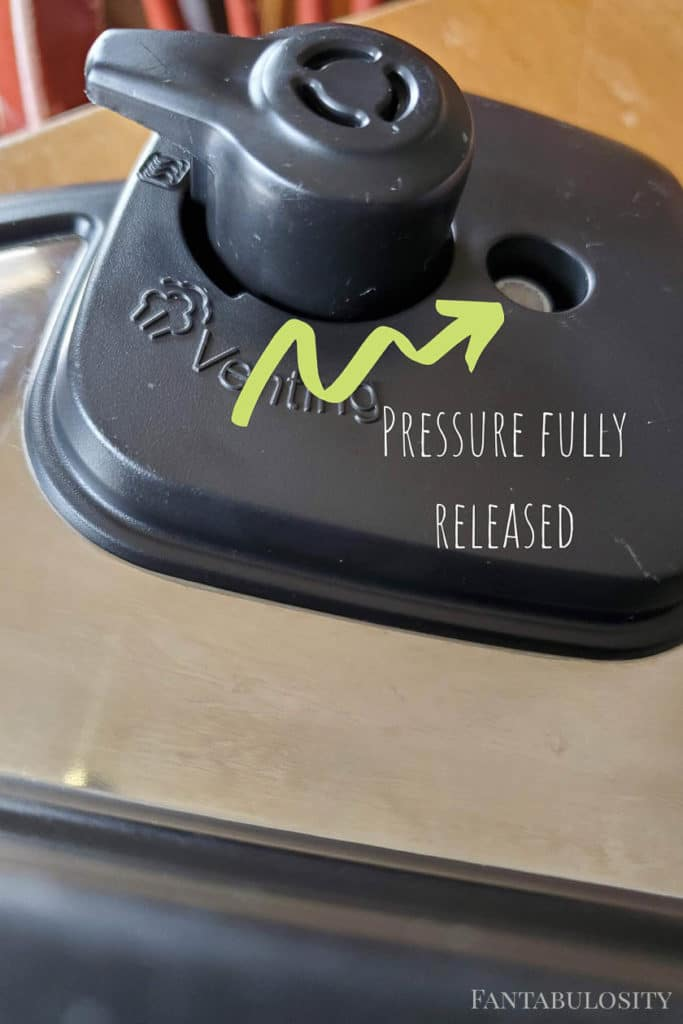 Pressure Released on Instant Pot