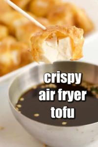easy crispy air fryer tofu recipe