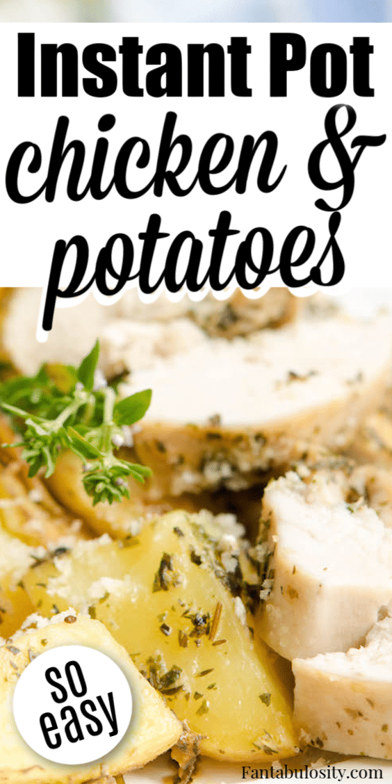 Instant Pot Chicken and Potatoes that were made in the Instant Pot