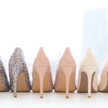 Shoes lined up - for how to create a capsule wardrobe