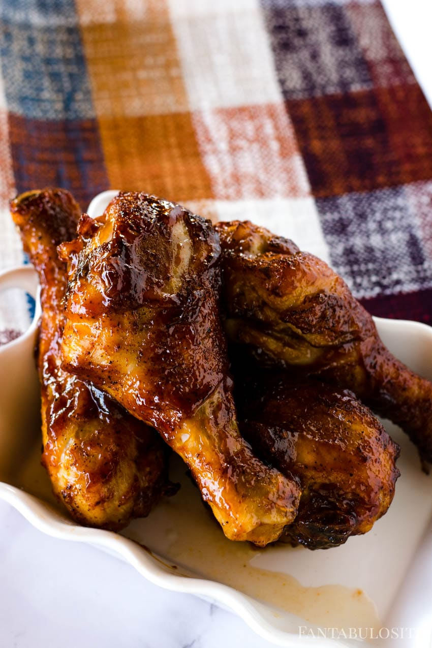 BBQ Sauce Air Fryer Chicken Legs