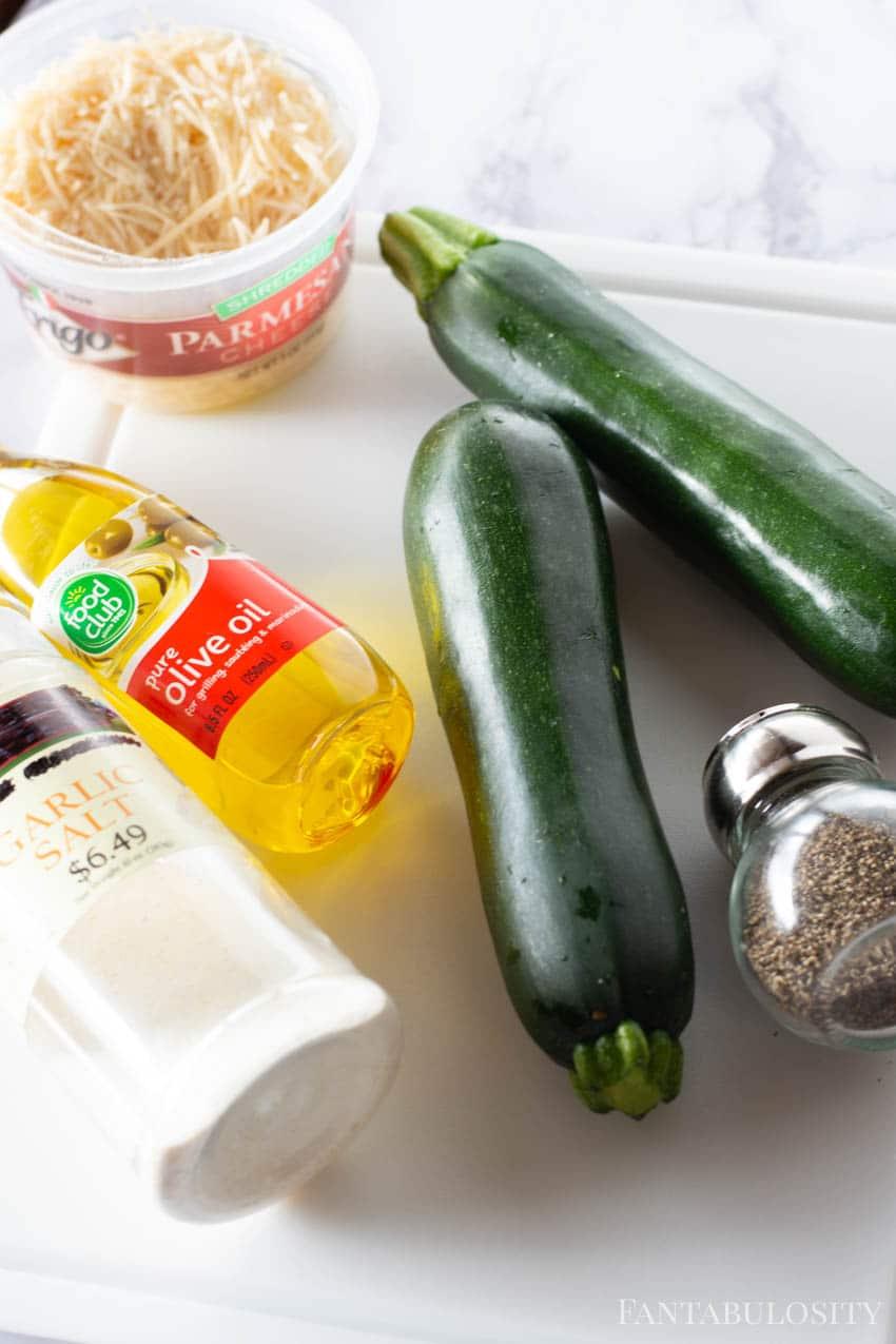 Ingredients for Air Fryer Zucchini