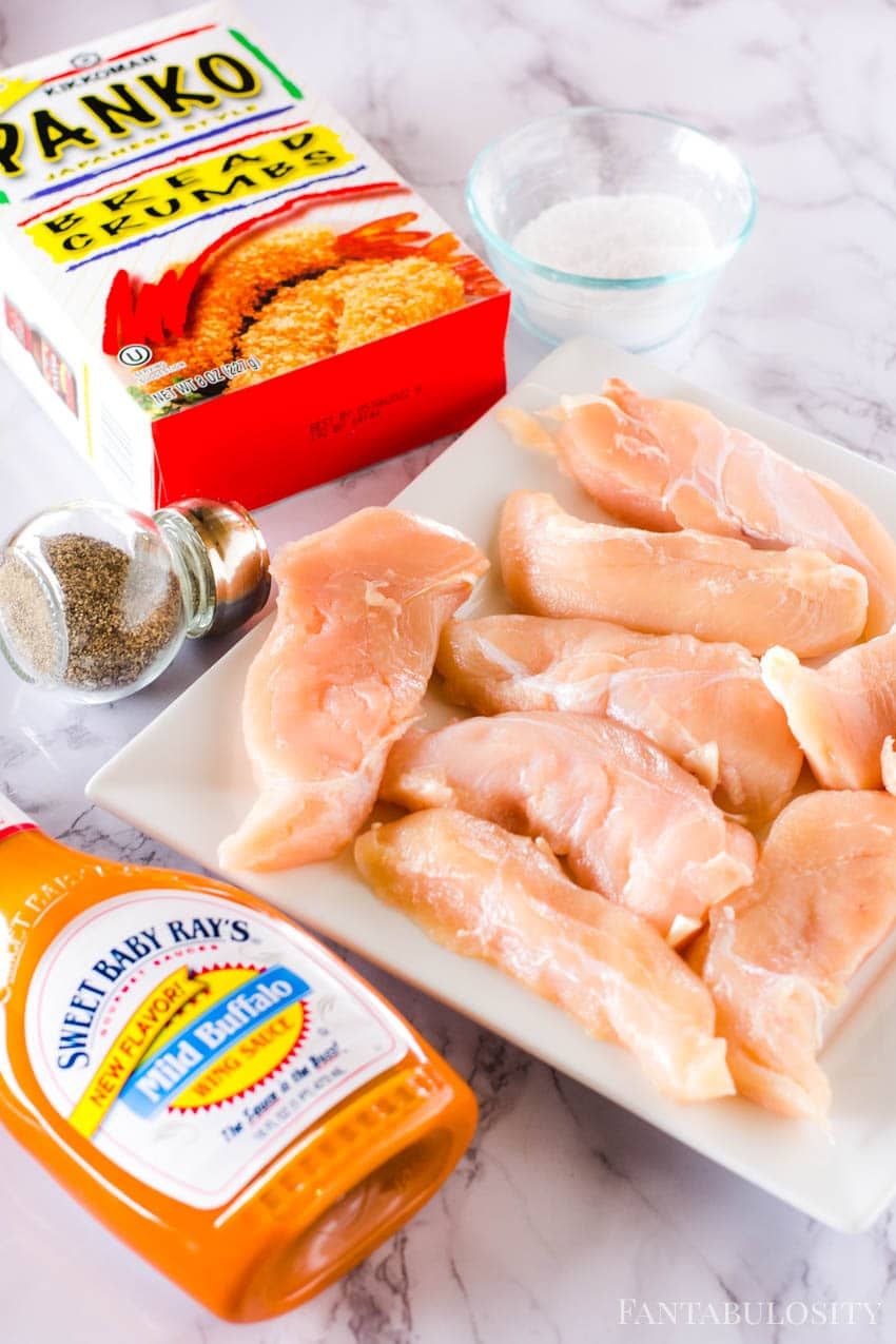 Ingredients for Air Fryer Buffalo Chicken Tenders