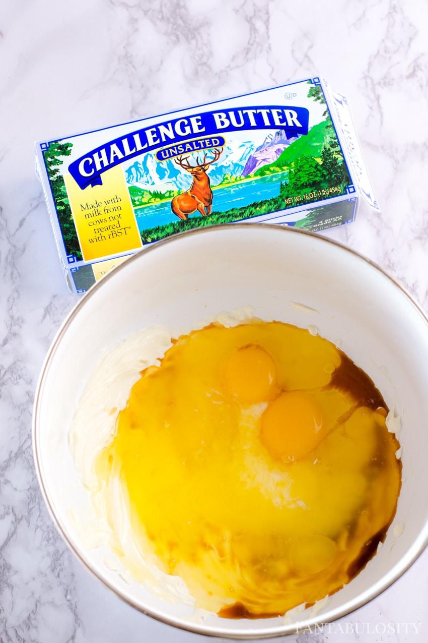 add two eggs, vanilla