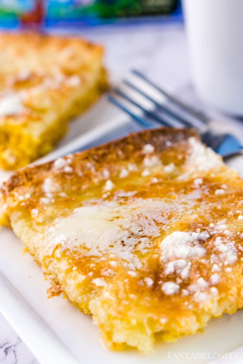 Close up gooey butter cake