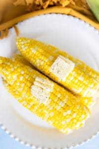 Cooked corn on the cob in the Instant Pot