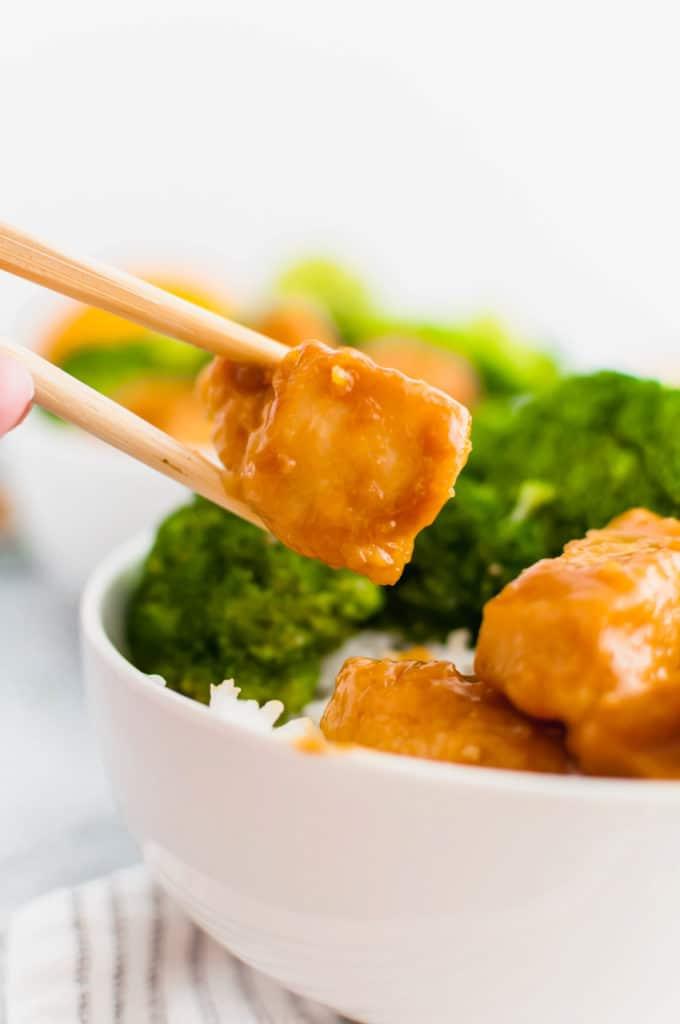 Orange Chicken Recipe Made in the Instant Pot