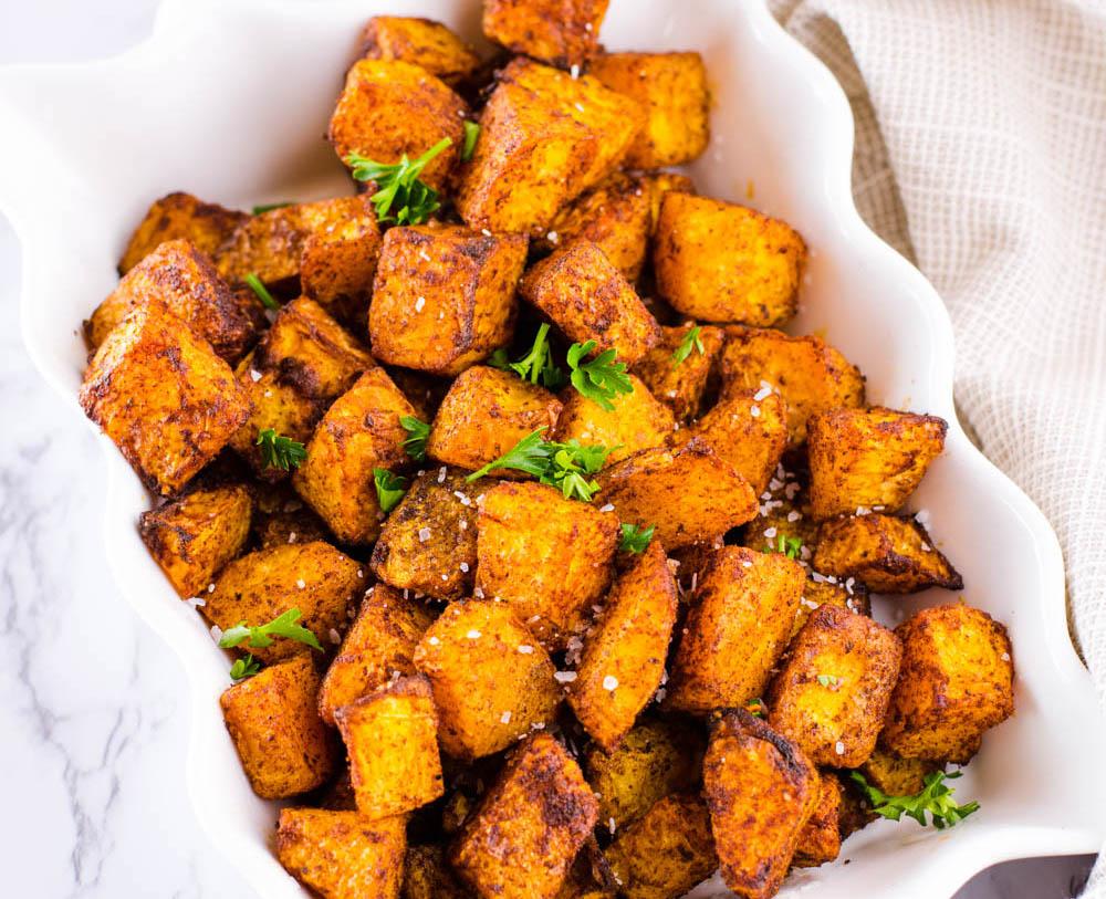 Air Fryer Butternut Squash - Easy Recipe Side Dish