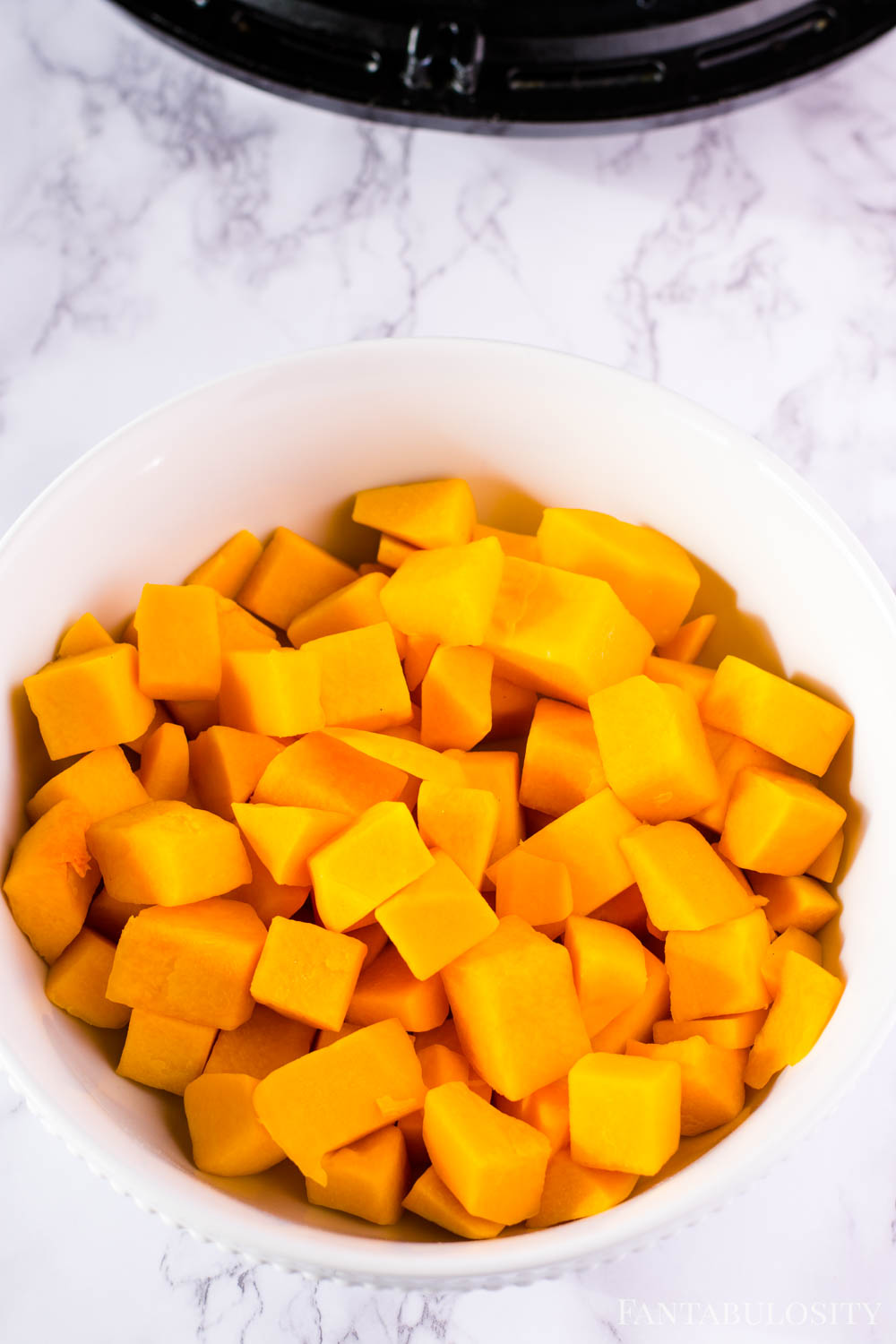 Uncooked butternut squash for the air fryer