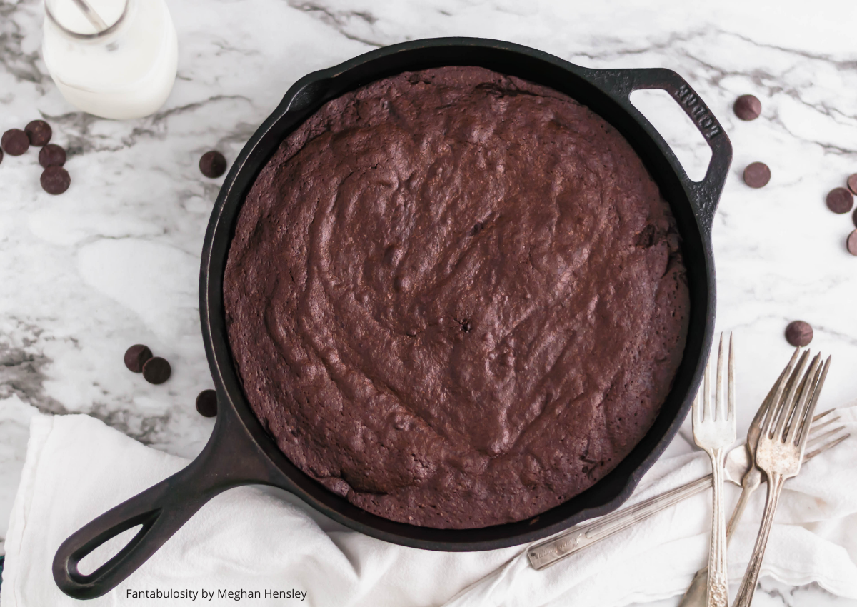 Cast Iron Brownies in Skillet