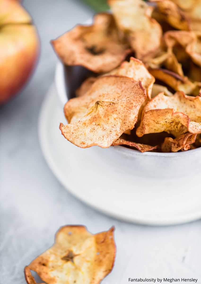 Air Fryer Apple Chips are an easy, healthy snack the whole family will love. Perfeclty crisp without all the calories.