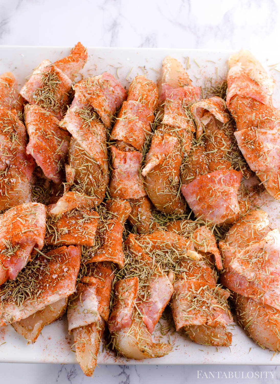 Smoked Chicken Tenders Seasoned