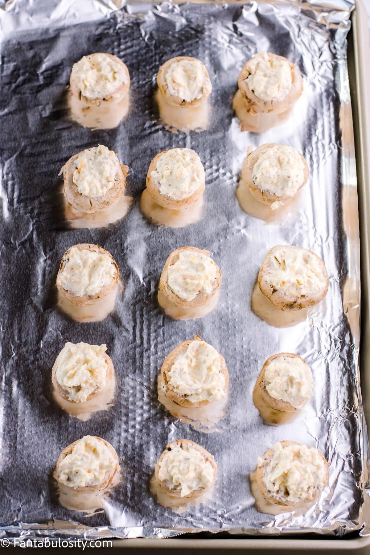 Stuff mushrooms with cream cheese