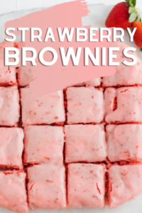 strawberry brownies with cake mix