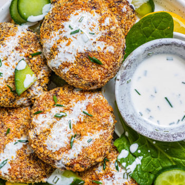 air fryer salmon patties with spicy mayo