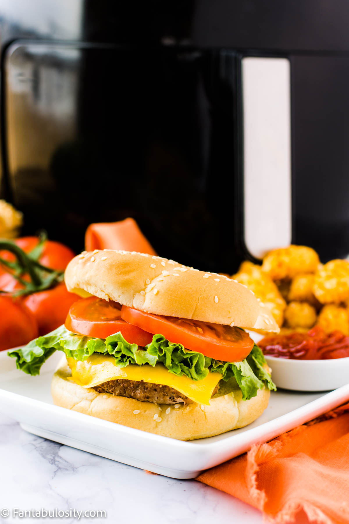 turkey burgers cooked in the air fryer