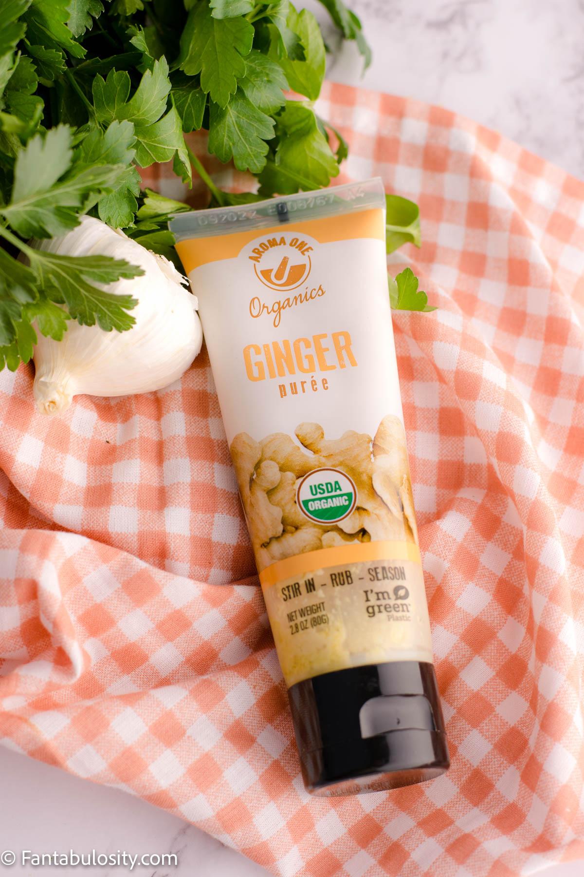 Ginger paste for teriyaki sauce