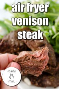 air fryer venison steak tenderloin backstrap