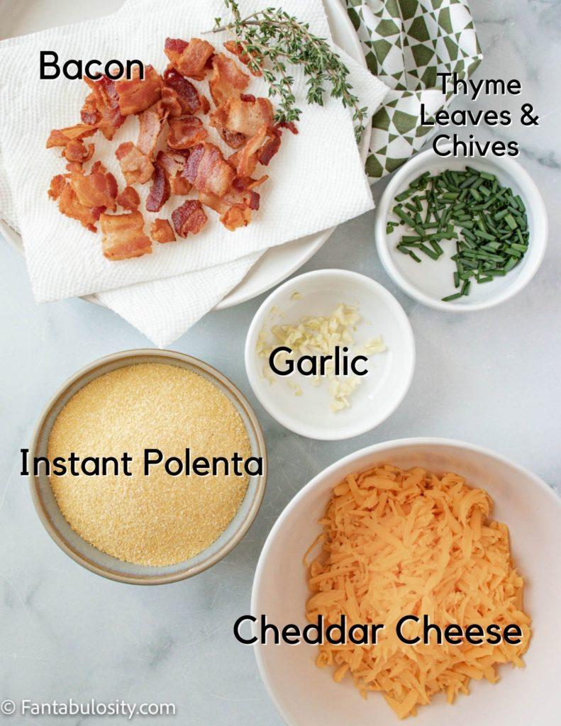 Ingredients to make Baked Polenta Fries