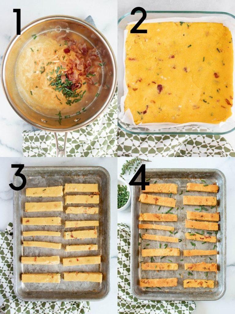 Steps to make bake Polenta Fries