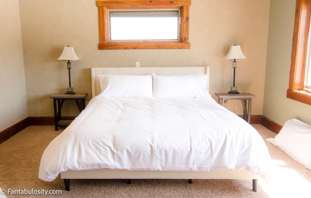 White Duvet Cover on Bed