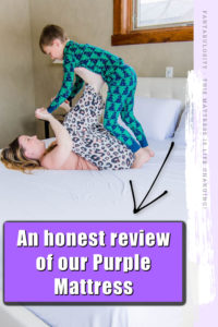 Purple Mattress Review - mom and child laying on bed