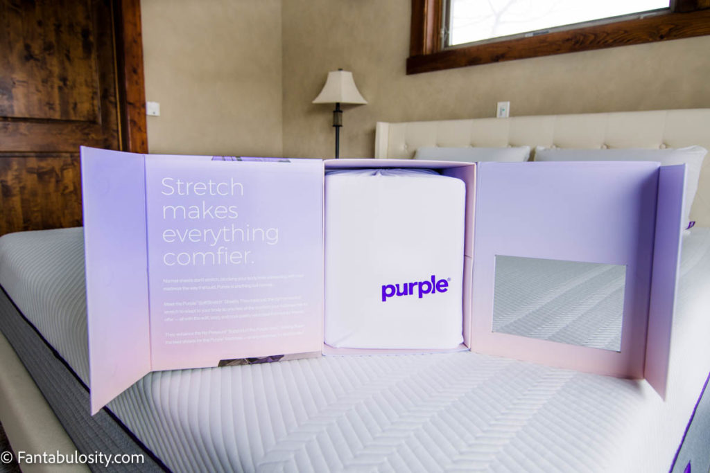 Purple Sheets Review - sheets on bed