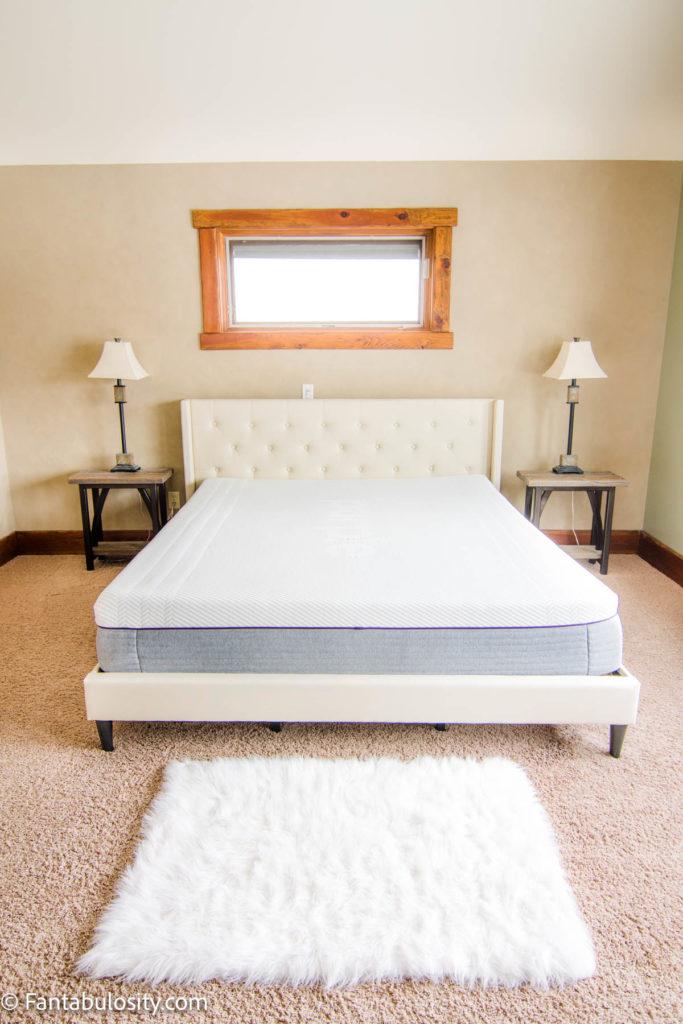 Purple Mattress in Bedroom - Review