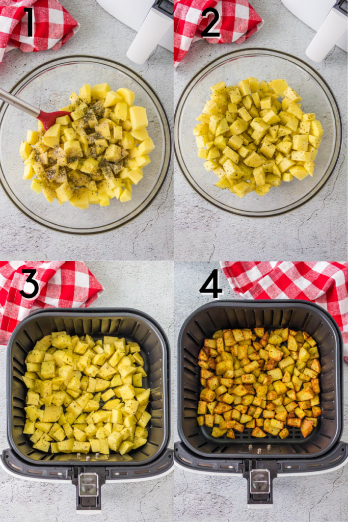 Instructions for air fryer breakfast potatoes