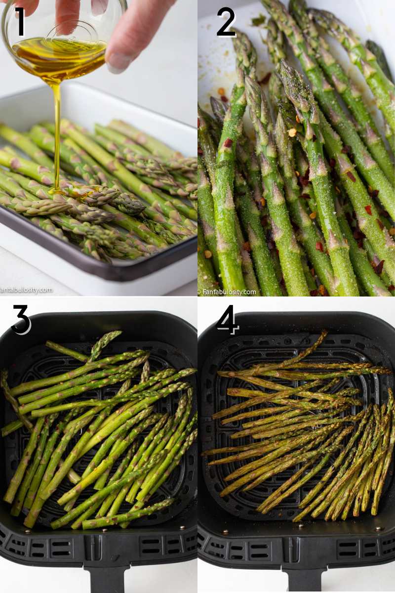 Instructions for air fryer asparagus