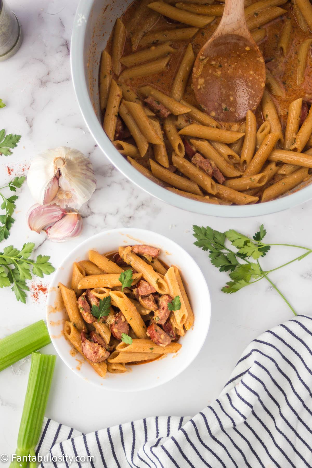 Easy instant pot cajun pasta recipe