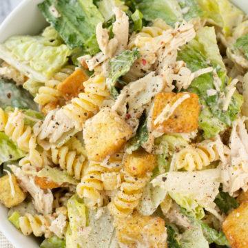 Caesar Chicken Pasta Salad