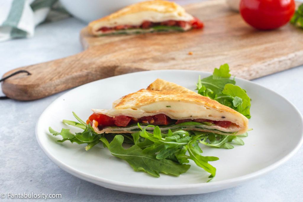 Mozzarella wrap with fresh basil