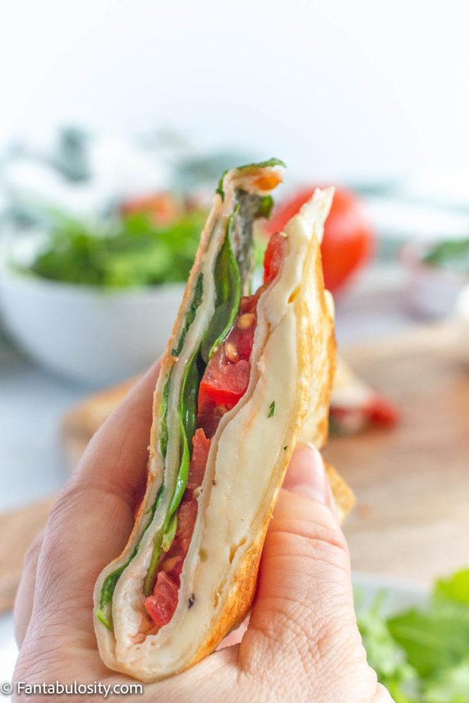 Mozzarella Wrap with Tomato and Basil