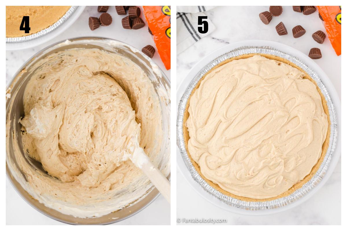 Peanut butter pie - no bake - collage