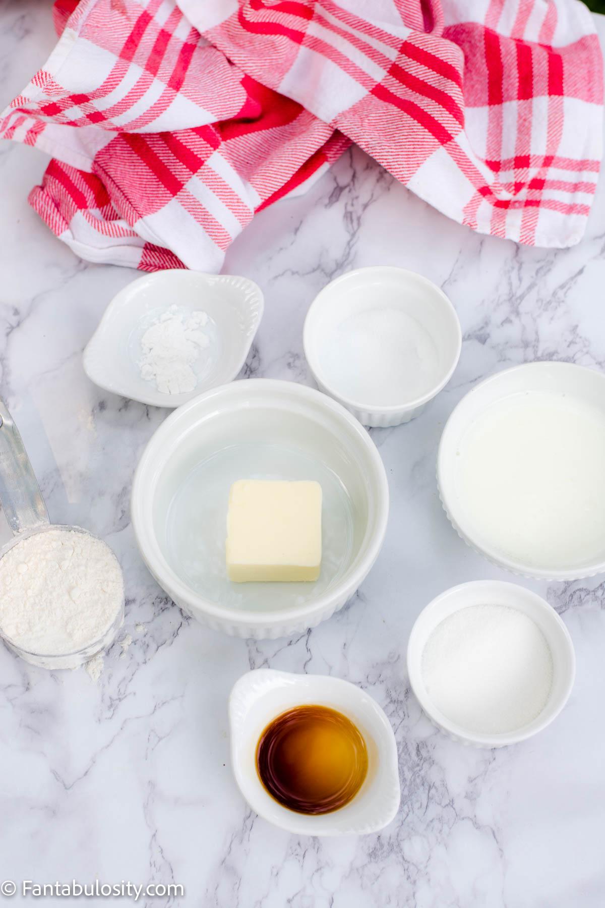 Ingredients for Vanilla Mug cake